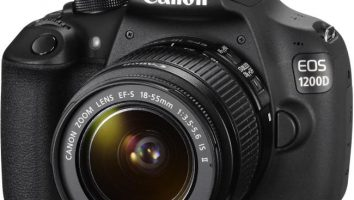 Canon 1200D con zoom in kit 18-55mm.