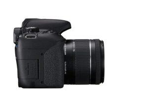 Vista laterale della Canon 800D.