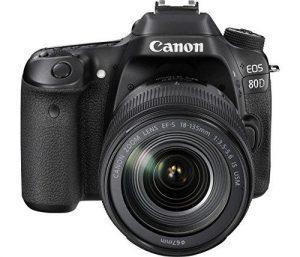 Canon EOS 80D vista frontale della macchina fotografica.