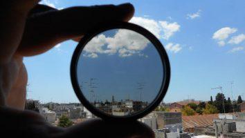 Filtro polarizzatore circolare, effetto sul paesaggio.