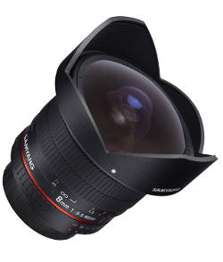 Fisheye Samyang 8mm.