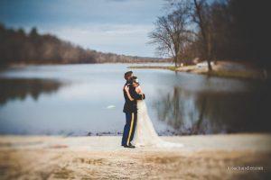 Fotografia di matrimonio scattata con obiettivo decentrabile.