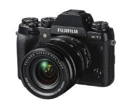 fotocamera mirrorless senza specchio Fuji X-T1.