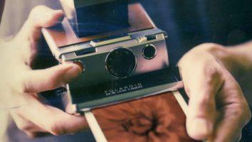 Fotocamera istantanea Polaroid.