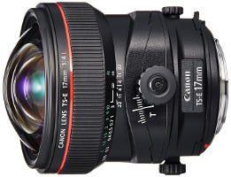 Obiettivo tilt shift Canon 17mm.