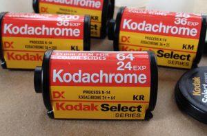 Rullino pellicola Kodachrome.