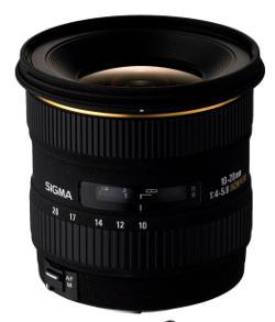zoom grandangolo Sigma 10-20mm per Canon.
