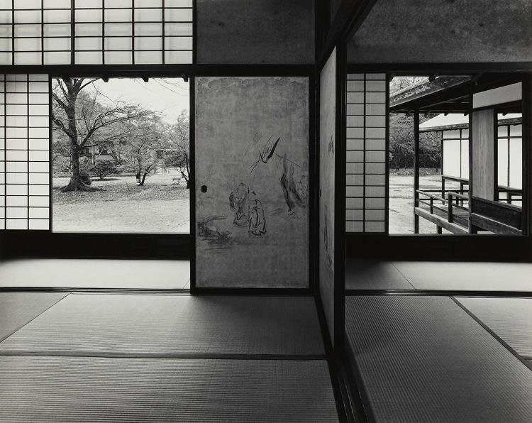 Fotografia di Yasuhiro Ishimoto nel palazzo imperiale di Katsura.